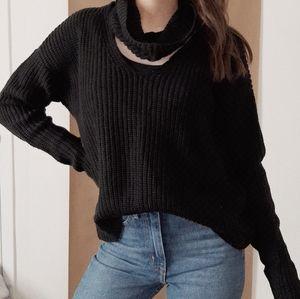 ❤Black Sweater